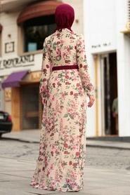 Nayla Collection - Çiçek Desenli Tesettür Elbise 815231DSN - Thumbnail