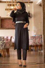 Nayla Collection - Siyah Tesettür Tunik 79190S - Thumbnail
