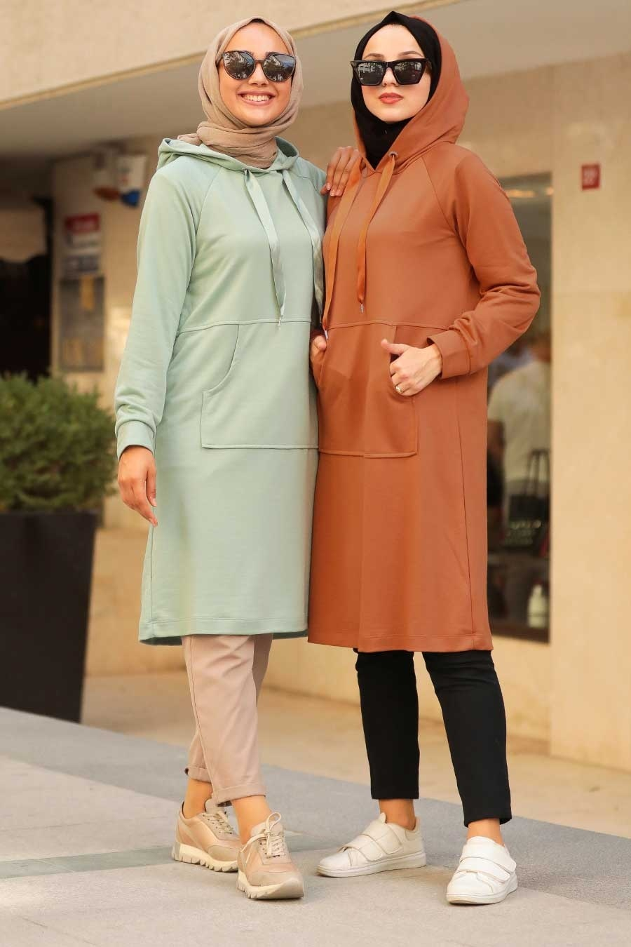 Neva Style - Cepli Mint Tesettür Sweatshirt & Tunik 16030MINT