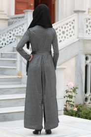 Neva Style - Cepli Siyah Tesettür Tulum 513S - Thumbnail
