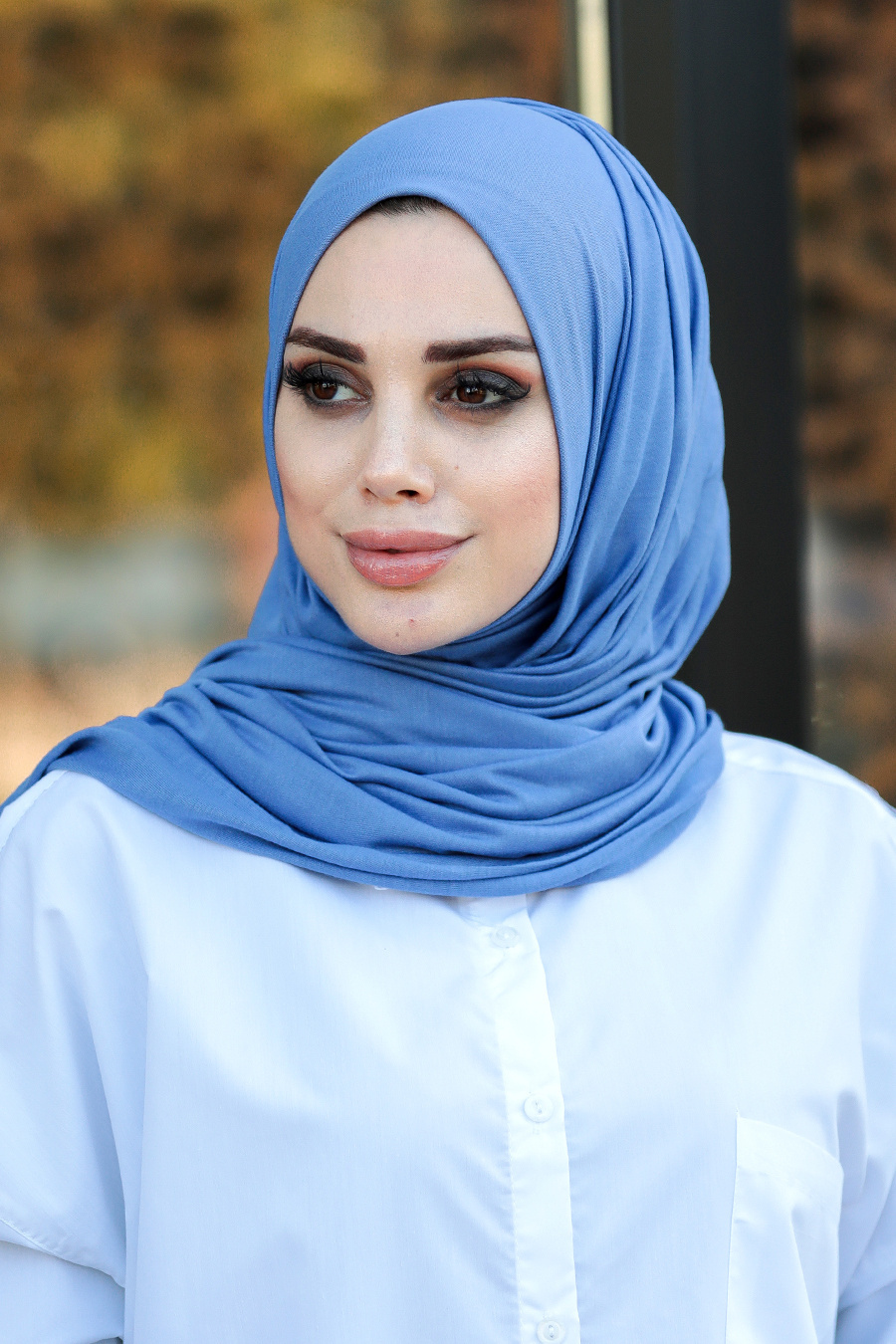 Neva Style - İndigo Mavisi Penye Şal 7528IM