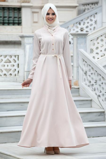 New Kenza - Bej Elbise