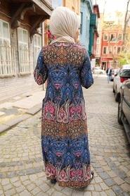 Patterned Hijab Dress 6681DSN - Thumbnail