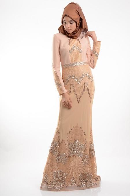 Somon Tesettür Abiye Elbise 3977SMN
