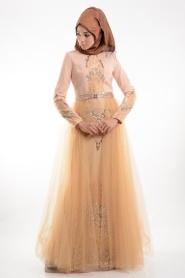 Somon Tesettür Abiye Elbise 3977SMN - Thumbnail