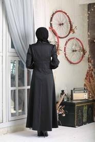 Tesettürlü Abiye Elbise - Siyah Tesettür Abiye Elbise 7627S - Thumbnail